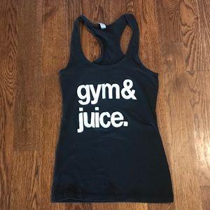 Custom Workout Racerback Tank Gym & Juice XS